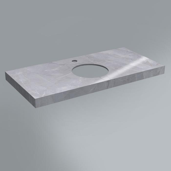 Столешница декоративная 100х48 Риальто серый лап.<br>