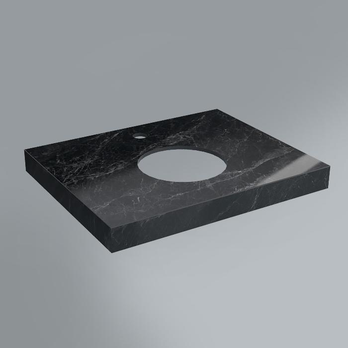 Столешница декоративная 60х48 Риальто серый темный лап<br>