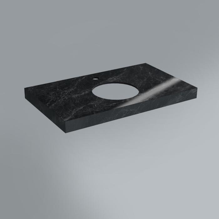 Столешница декоративная 80х48 Риальто серый темный лап.<br>