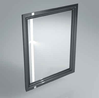 Зеркало POMPEI 60 см, черное с боковой подсветкой<br>