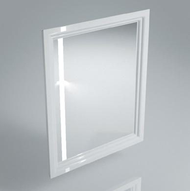 Зеркало POMPEI 60 см, белое с боковой подсветкой<br>