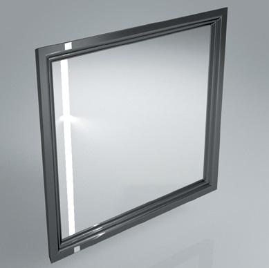 Зеркало POMPEI 80 см, черное с боковой подсветкой<br>