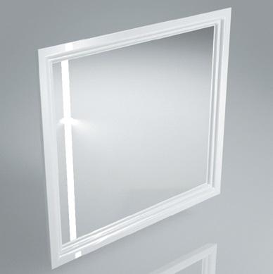 Зеркало POMPEI 80 см, белое с боковой подсветкой<br>