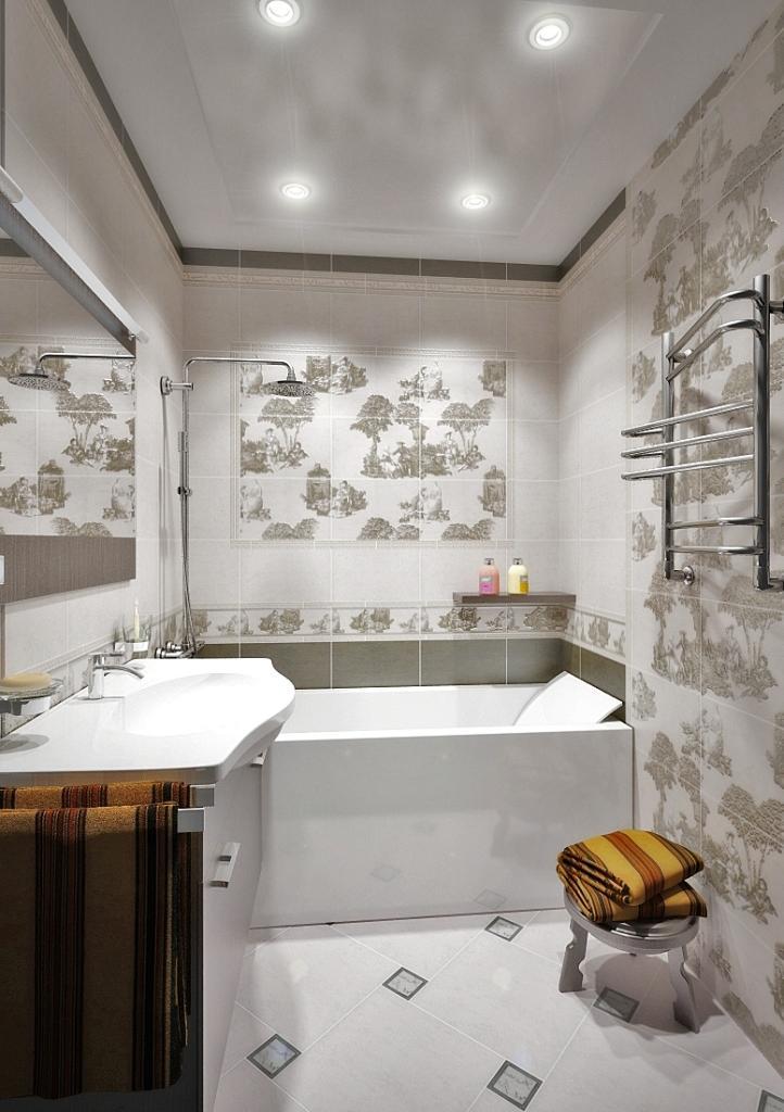 Пастораль плитка в интерьере ванной фото